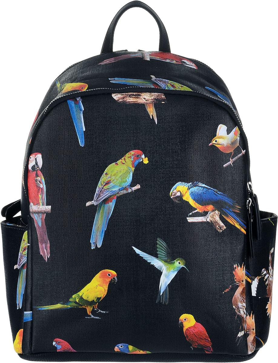 Рюкзак женский OrsOro, цвет: черный, мультиколор. D-242/1