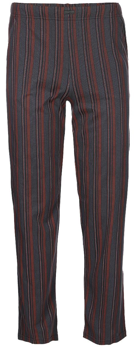 Брюки пижамные мужские Lowry, цвет: серый. MT-4. Размер XXL (52) плавки мужские lowry цвет черный фиолетовый msb 1 размер l 48
