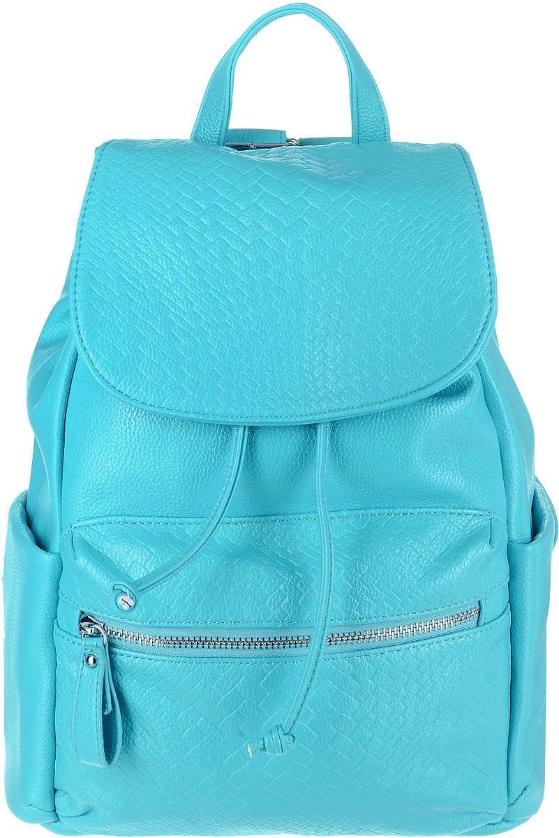 Рюкзак женский OrsOro, цвет: бирюзовый. D-264/3