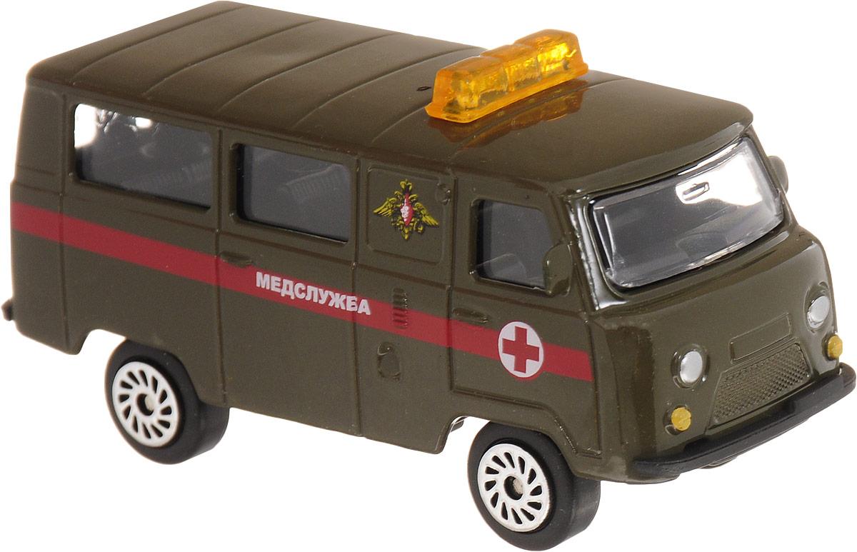 ТехноПарк Автомобиль УАЗ 39625 Медслужба машинки технопарк набор из 2 х металлических моделей технопарк уаз полиция