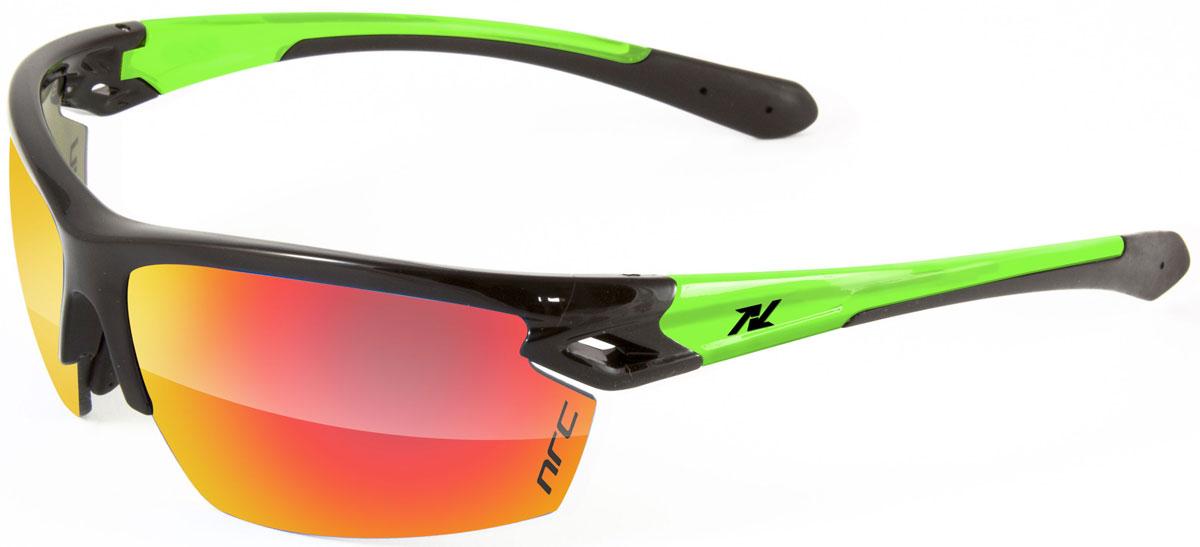 Очки солнцезащитные NRC, цвет: черный. 2101621016Очки солнцезащитные NRC - предназначены, как для езды на велосипеде, так и для многих других видов спорта. Бренд NRC известен собственными фирменными разработками, адаптирующими очки под разные климатические условия, различное время суток, степень освещенности, а также под индивидуальные потребности каждого конкретного пользователя. Особенности:Красные зеркальные линзыМатериал оправы – нейлон (TR90)Оправа - регулируемые носоупоры, возможность использовать одновременно с обычными (рецептурными) очкамиМатериал линзы - поликарбонат (РС)Покрытие – защитное от царапин, антибликовое, антизапотевающее, зеркальноеПрозрачность -15%Категория фильтра -3Вес -25,5 гКривизна (изгиб) - 8