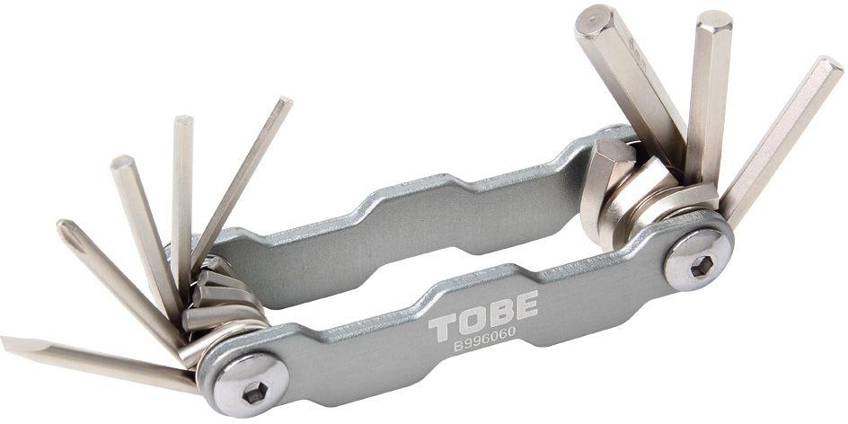 Складной инструмент To Be, 8 в 1. 21252125Складные инструменты B996060Особенности: 6-гранный торцевые ключи 2/2.5/3/4/5/6 мм;Отвертка (+)/(-)