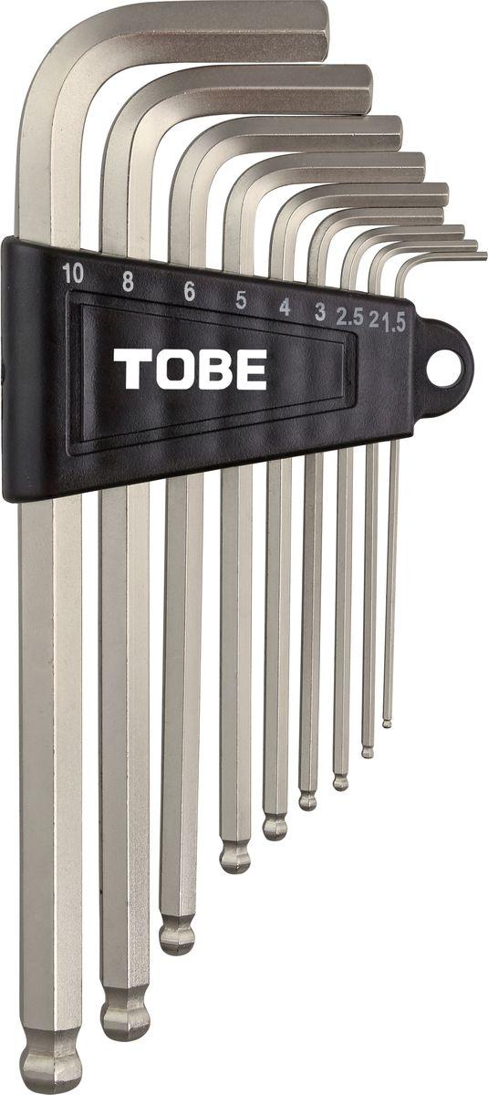 Набор шестигранных ключей To Be, 9 шт. 21342134Набор шестигранных ключей To Be, выполненный из стали, состоит из 9 шестигранных ключей (1.5 мм, 2 мм, 2,5 мм, 3 мм, 4 мм, 5 мм, 6 мм, 8 мм, 10 мм). Такой компактный набор включает в себя все самые необходимые элементы и нужен любому велосипедисту. Он поместится даже в самой маленькой сумке на раму.