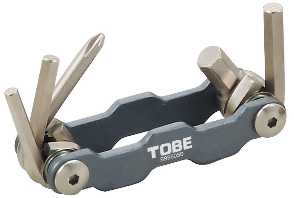 Набор инструментов To Be, 5 шт. 21442144Набор To Be состоит из 4 шестигранных ключей и крестовой отвертки. Все предметы надежно расположены в держателе. Набор небольшой и компактный, что делает его незаменимой вещью при велопрогулках и в хозяйстве.