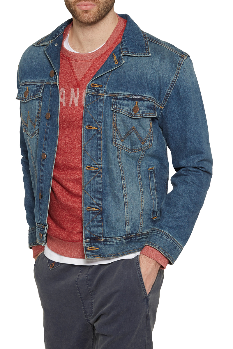 Куртка мужская Wrangler, цвет: синий. W4481514V. Размер S (46)