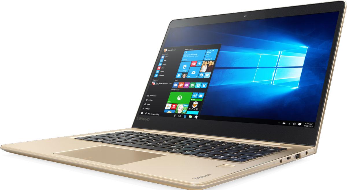 Lenovo IdeaPad 710S-13ISK Plus, Gold (80VU0032RK)80VU0032RKЕсли ты ищешь ноутбук с эффектным дизайном и высоким уровнем производительности, IdeaPad 710s Plus отлично тебе подойдет. Тонкий и легкий, этот 13,3-дюймовый ноутбук отличается мощным процессором, дисплеем высокого разрешения и поддержкой высокопроизводительных твердотельных накопителей. Он также оснащен сканером отпечатков пальцев, который позволяет быстро разблокировать устройство и защищает твой ПК от несанкционированного доступа.Процессор Intel Core i5 шестого поколения устанавливает новые стандарты производительности. Высокопроизводительный, многофункциональный процессор со встроенной системой безопасности открывает качественно новые возможности для работы, творчества и 3D-игр. Разбуди свою фантазию и расширь границы возможного с процессором Intel Core шестого поколения и ОС Windows 10.Благодаря узкой рамке 5 мм IdeaPad 710s Plus на 50 % тоньше большинства ноутбуков — эффектный и стильный корпус в сочетании с высочайшим уровнем производительности.13,3-дюймовый экран IdeaPad 710s Plus с высоким разрешением обеспечивает превосходное качество, цветопередачу и четкость изображений. Дискретная видеокарта NVIDIA GeForce 940MX отлично подойдет для просмотра фильмов и игр в высоком разрешении и гарантирует прекрасное качество изображений.IdeaPad 710s Plus оснащен дополнительным средством обеспечения комфортной работы и безопасности устройства. Вместо использования громоздкого пароля для снятия блокировки своего ноутбука, просто проведи пальцем по встроенному сканеру отпечатков пальцев. Настрой сканер, чтобы несколько пользователей могли получить доступ к твоим личным учетным записям.Этот тонкий и легкий ноутбук может работать в автономном режиме до 7 часов — он готов к использованию в любое время, в любом месте. Всегда включенный порт USB для подзарядки позволяет заряжать различные устройства, даже если ноутбук находится в спящем режиме.Новый тип твердотельных накопителей (PCIe) обеспечивает более высокую скоро