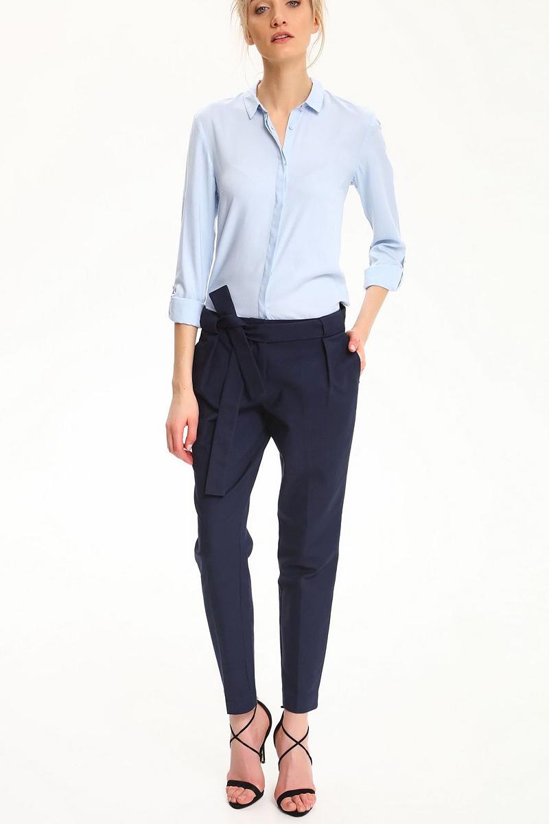 Брюки женские Top Secret, цвет: темно-синий. SSP2479GR. Размер 38 (46)SSP2479GRСтильные женские брюки Top Secret - брюки высочайшего качества на каждый день, которые прекрасно сидят. Модель изготовлена из высококачественного комбинированного материала. Эти модные и в тоже время комфортные брюки послужат отличным дополнением к вашему гардеробу. В них вы всегда будете чувствовать себя уютно и комфортно.