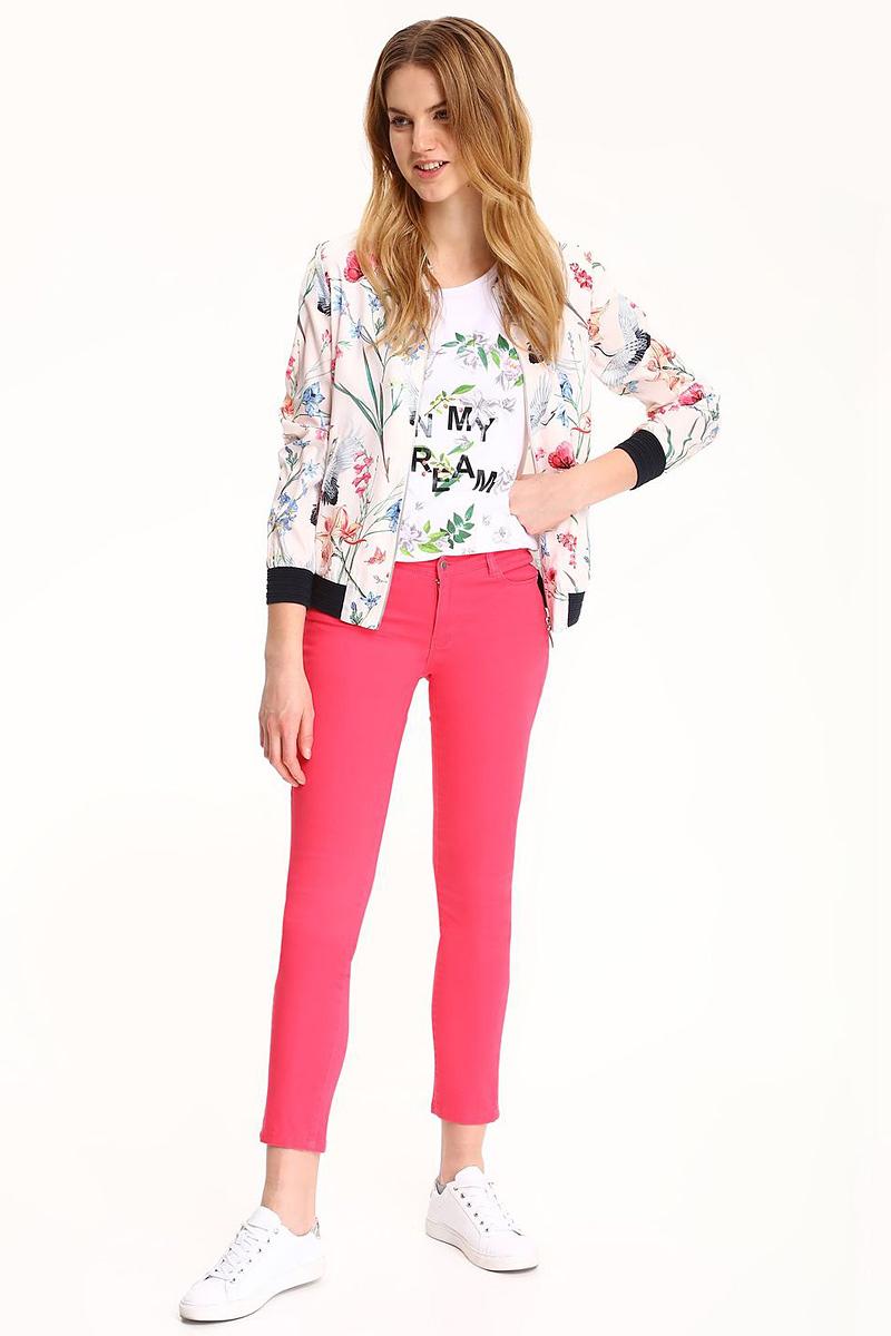 Куртка женская Top Secret, цвет: белый. SKU0754BI. Размер 40 (48)SKU0754BIЖенская куртка Top Secret выполнена из полиэстера. Модель с длинными рукавами застегивается на застежку-молнию.
