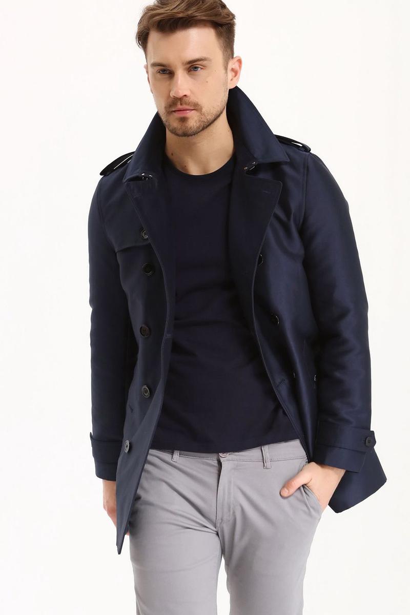 Пальто мужское Top Secret, цвет: темно-синий. SPZ0381GR. Размер XXL (54) top secret to795ewtuu60 top secret