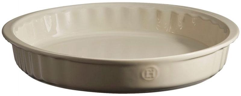 Форма для выпечки Emile Henry, круглая, цвет: кремовый, диаметр 26 см026080Достаточно глубокая круглая форма Emile Henry подойдет для всех видов домашнего пирога, фланов, фонданов. С помощью небольших ручек, форму легко извлекать или ставить в духовку/на стол.HR керамика идеально пропекает пироги изнутри. Изделия Emile Henry прекрасно держат температуру, как низкую, так и высокую, поэтому сервированные в них блюда долго остаются холодными или горячими, в зависимости от того, достали вы их из духовки или из морозильной камеры. Ваши хлебцы, пироги, торты, кексы и рулеты будут восхитительными в посуде Emile Henry.Длина с ручками: 28 см.
