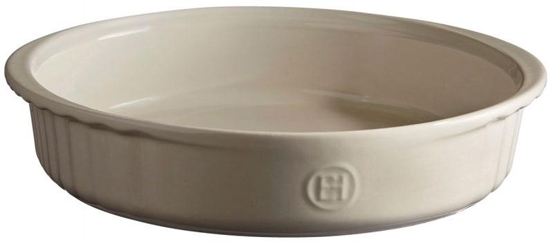 Форма для выпечки Emile Henry, круглая, цвет: кремовый, диаметр 24,5 см emile henry тажин 3 5 л 32 см базальт