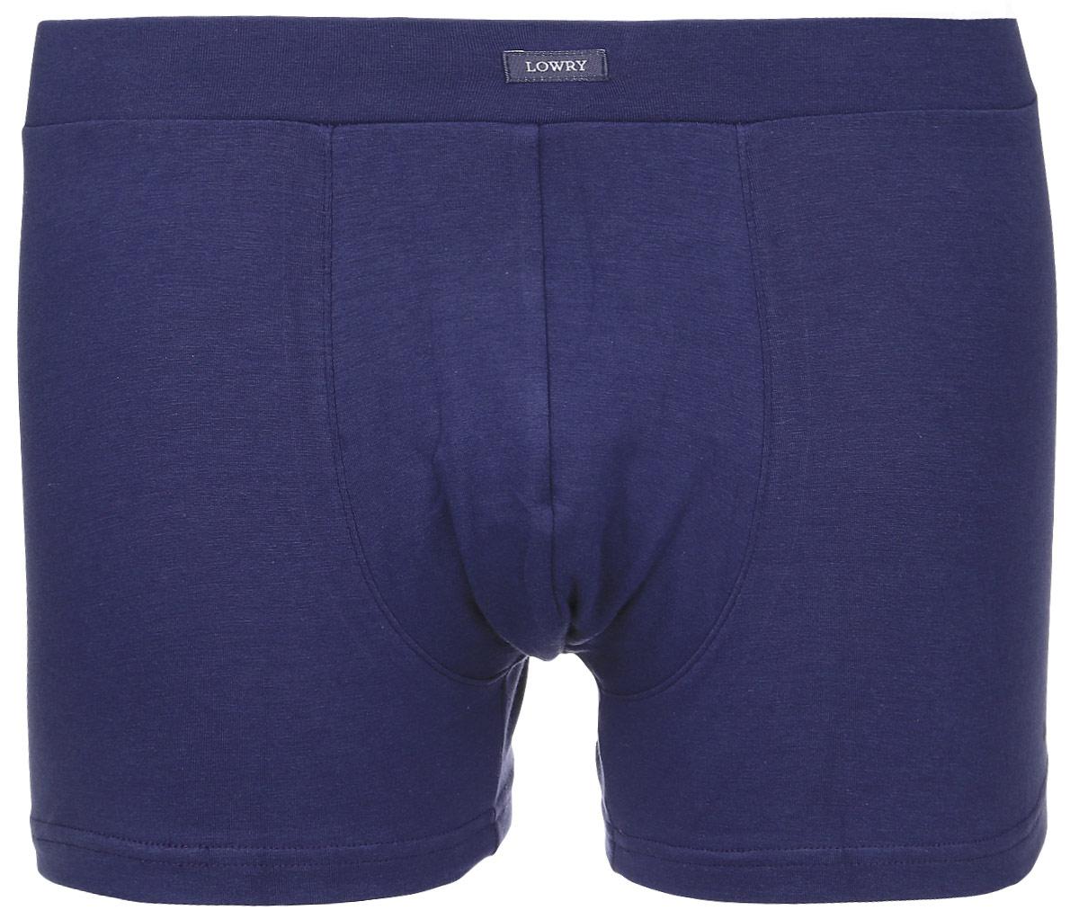 Трусы-боксеры мужские Lowry, цвет: темно-синий. MSHL-440. Размер XXL (52) трусы lowry трусы 3 шт