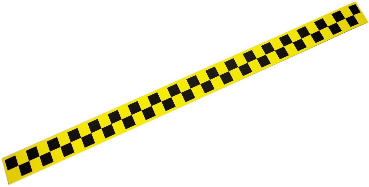 Наклейка-магнит на такси Оранжевый слоник, цвет: желтый, 90 х 6 см, 2 шт