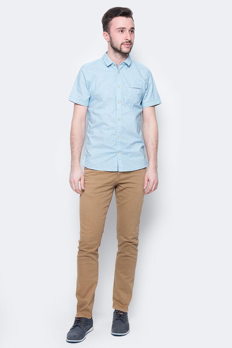 Джинсы мужские Tom Tailor, цвет: коричневый. 6205521.00.10_8281. Размер 30-32 (46-32)6205521.00.10_8281Стильные мужские джинсы Tom Tailor - джинсы высочайшего качества, которые прекрасно сидят. Модель-слим средней посадки изготовлена из высококачественного эластичного хлопка, не сковывает движения и дарит комфорт.Джинсы на талии застегиваются на металлическую пуговицу и ширинку на молнии, а также имеют в поясе шлевки для ремня. Спереди модель дополнена двумя втачными карманами и одним накладным маленьким кармашком, а сзади - двумя большими накладными карманами. Изделие оформленоперманентными складками. Эти модные и в тоже время удобные джинсы помогут вам создать оригинальный современный образ.