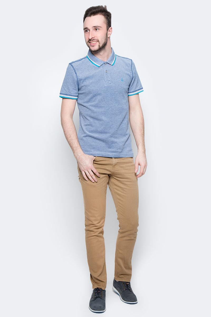 Поло мужское Tom Tailor, цвет: синий меланж. 1531087.00.10_6621. Размер M (48)1531087.00.10_6621Мужская футболка-поло Tom Tailor поможет создать отличный современный образ. Модель изготовлена из хлопка. Футболка-поло с отложным воротником и короткими рукавами застегивается сверху на две пуговицы. Низ рукавов дополнен вставками. Такая футболка станет стильным дополнением к вашему гардеробу, она подарит вам комфорт в течение всего дня!