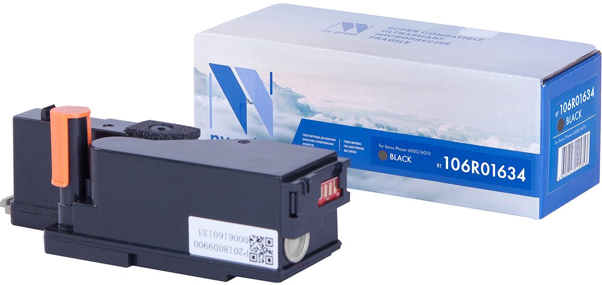 NV Print 106R01634Bk, Black тонер-картридж для Xerox Phaser 6000/6010NV-106R01634BkСовместимый лазерный картридж NV Print 106R01634Bk для печатающих устройств Xerox - это альтернатива приобретению оригинальных расходных материалов. При этом качество печати остается высоким. Картридж обеспечивает повышенную чёткость чёрного текста и плавность переходов оттенков серого цвета и полутонов, позволяет отображать мельчайшие детали изображения.Лазерные принтеры, копировальные аппараты и МФУ являются более выгодными в печати, чем струйные устройства, так как лазерных картриджей хватает на значительно большее количество отпечатков, чем обычных. Для печати в данном случае используются не чернила, а тонер.