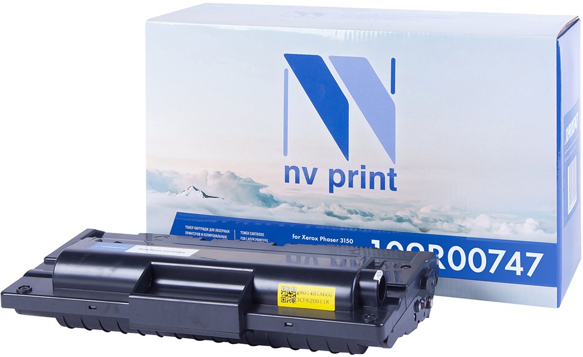 NV Print 109R00747, Black тонер-картридж для Xerox Phaser 3150 худи print bar cs go asiimov black