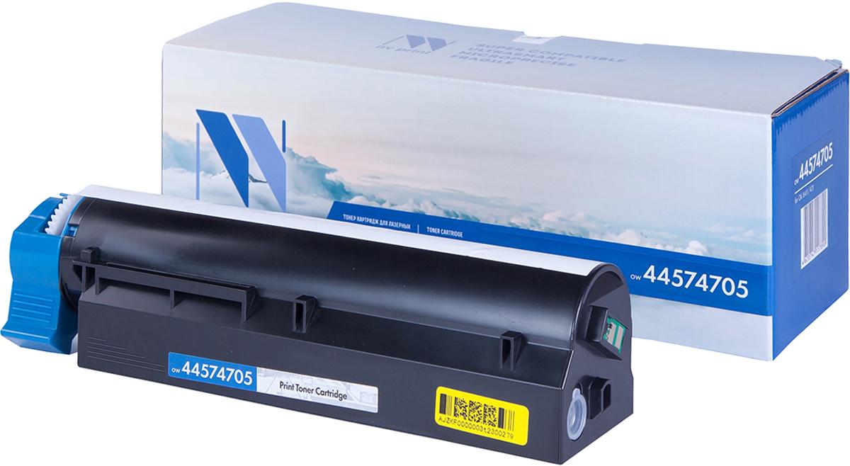 NV Print 44574705, Black тонер-картридж для Oki B411/B431NV-44574705Совместимый лазерный картридж NV Print 44574705 для печатающих устройств Oki B411/B431 - это альтернатива приобретению оригинальных расходных материалов. При этом качество печати остается высоким. Картридж обеспечивает повышенную чёткость чёрного текста и плавность переходов оттенков серого цвета и полутонов, позволяет отображать мельчайшие детали изображения.Лазерные принтеры, копировальные аппараты и МФУ являются более выгодными в печати, чем струйные устройства, так как лазерных картриджей хватает на значительно большее количество отпечатков, чем обычных. Для печати в данном случае используются не чернила, а тонер.