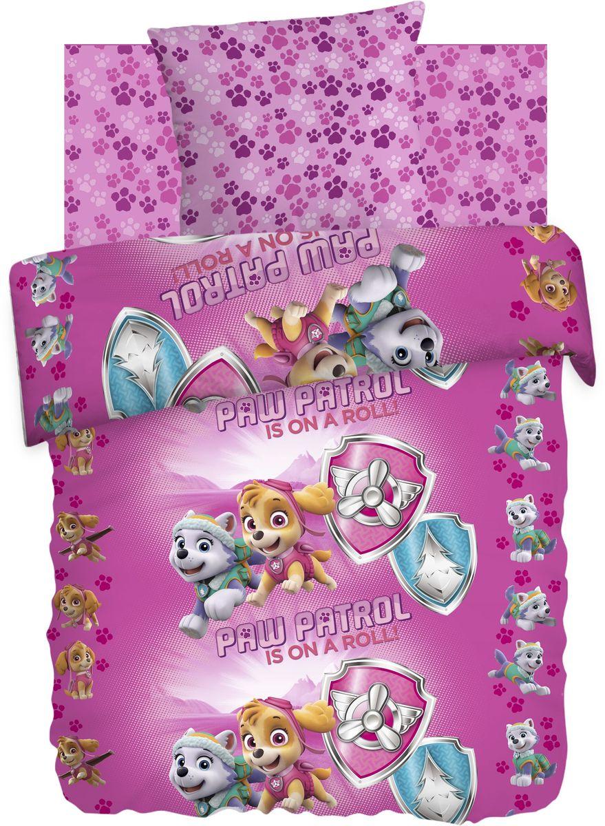 Комплект детского постельного белья Щенячий патруль Скай и Эверест, 1,5-спальный, наволочки 70х70411117