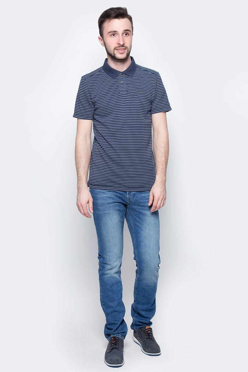 Поло мужское Tom Tailor, цвет: темно-синий, белый. 1531010.10.10_6012. Размер M (48)1531010.10.10_6012Мужская футболка-поло Tom Tailor поможет создать отличный современный образ. Модель изготовлена из хлопка с добавлением полиэстера. Футболка-поло с короткими рукавами и отложным воротником застегивается сверху на две пуговицы. Оформлено изделие принтом в полоску.Такая футболка станет стильным дополнением к вашему гардеробу, она подарит вам комфорт в течение всего дня!