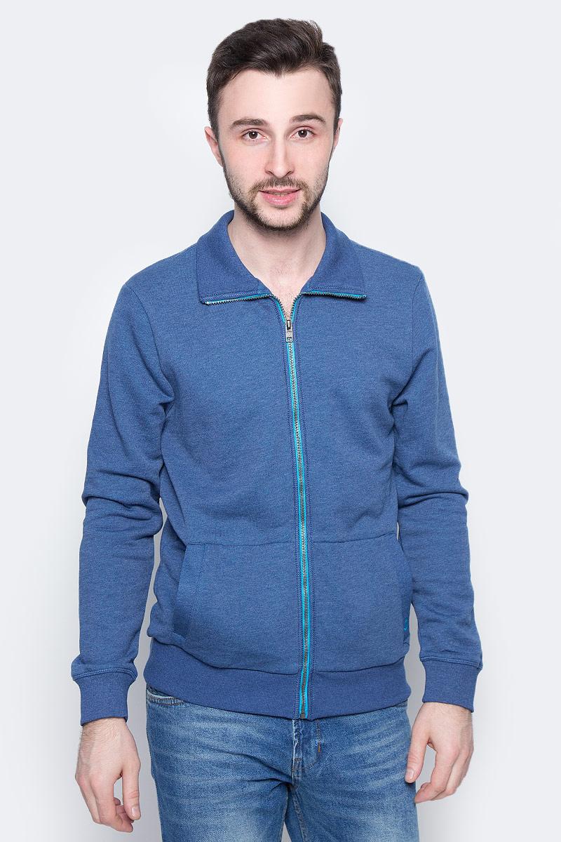 Фото Толстовка мужская Tom Tailor, цвет: синий. 2531222.00.10_6621. Размер L (50)