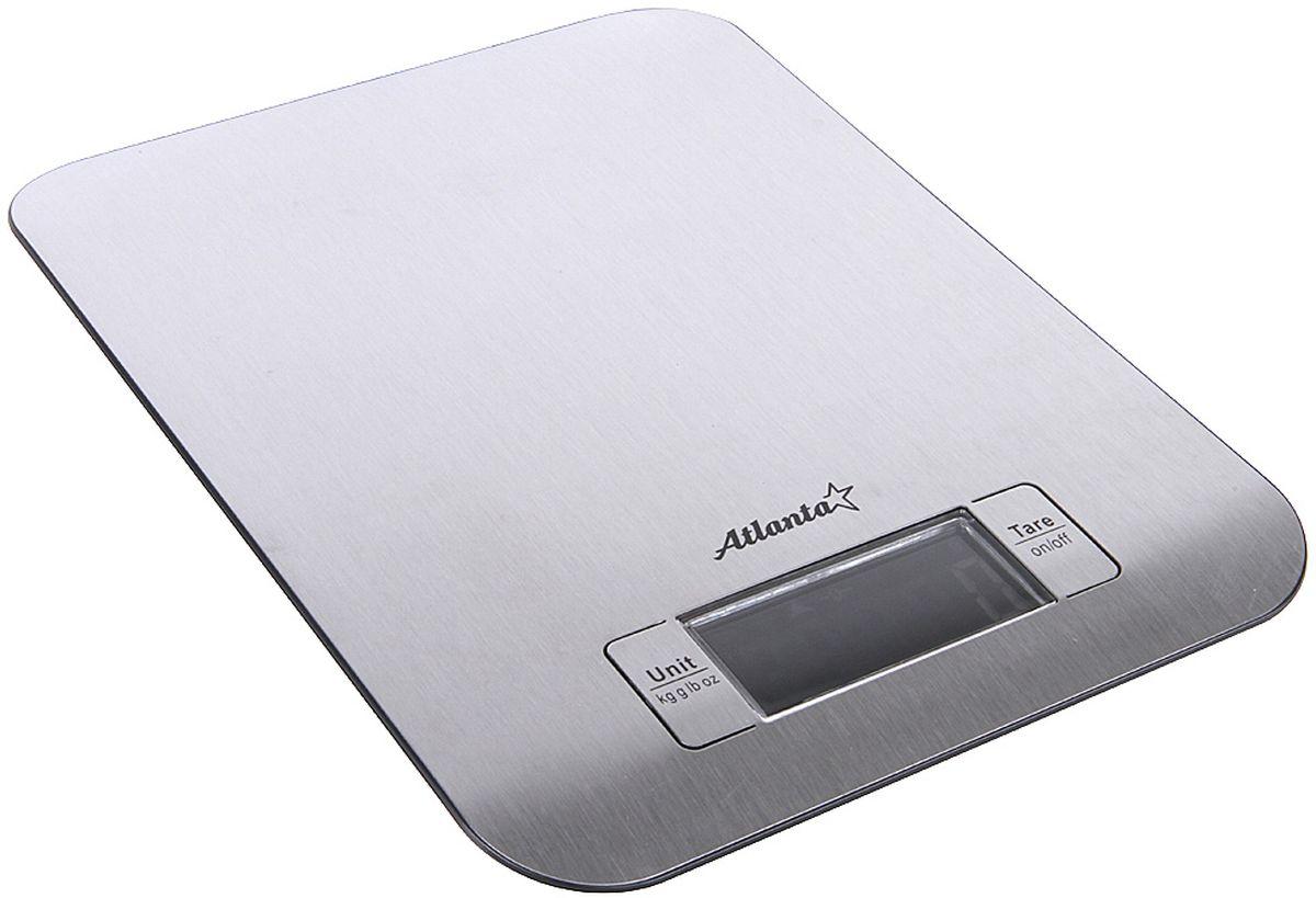Atlanta ATH-6202, Black Silver весы кухонныеATH-6202 blackКухонные электронные весы Atlanta ATH-6202 - незаменимые помощники современной хозяйки. Они помогут точно взвесить любые продукты и ингредиенты. Кроме того, позволят людям, соблюдающим диету, контролировать количество съедаемой пищи и размеры порций. Предназначены для взвешивания продуктов с точностью измерения 1 грамм.Размер дисплея: 5,9 см х 2,8 смФункция обнуления весаФункция сложный рецепт