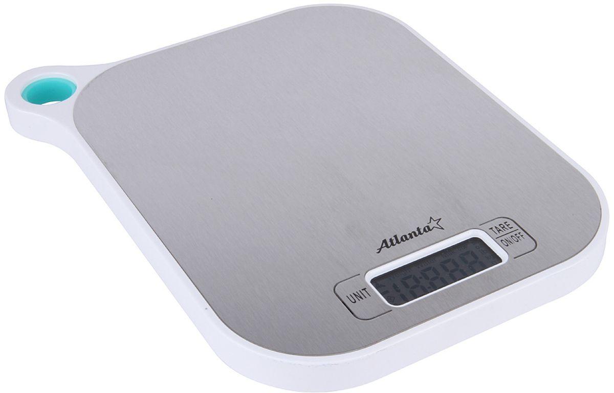 Atlanta ATH-6208, White весы кухонныеATH-6208 whiteКухонные электронные весы Atlanta ATH-6208 - незаменимые помощники современной хозяйки. Они помогут точно взвесить любые продукты и ингредиенты. Кроме того, позволят людям, соблюдающим диету, контролировать количество съедаемой пищи и размеры порций. Предназначены для взвешивания продуктов с точностью измерения 1 грамм.Размер дисплея: 4,58 см х 1,7 смФункция обнуления веса
