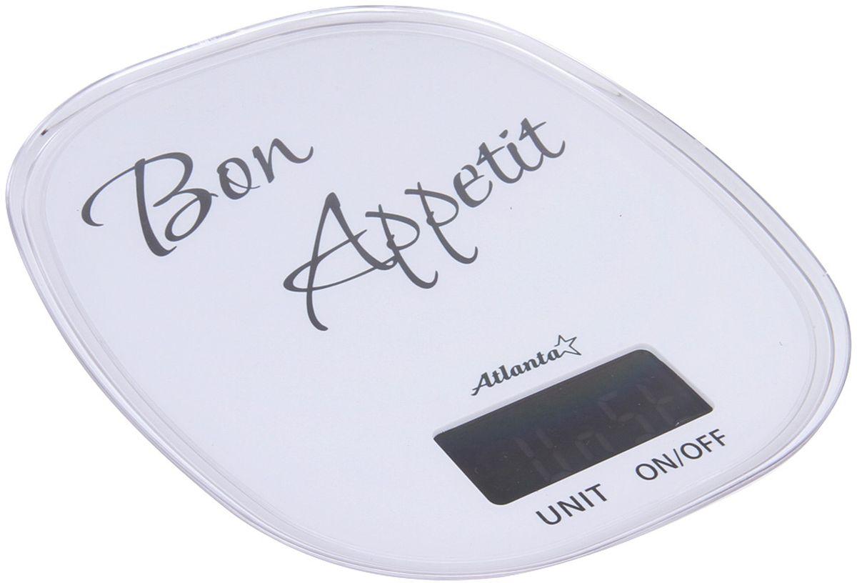 Atlanta ATH-6209, White весы кухонныеATH-6209 whiteКухонные электронные весы Atlanta ATH-6209 - незаменимые помощники современной хозяйки. Они помогут точно взвесить любые продукты и ингредиенты. Кроме того, позволят людям, соблюдающим диету, контролировать количество съедаемой пищи и размеры порций. Предназначены для взвешивания продуктов с точностью измерения 1 грамм.Размер дисплея: 5,86 см х 2,8 смФункция обнуления веса