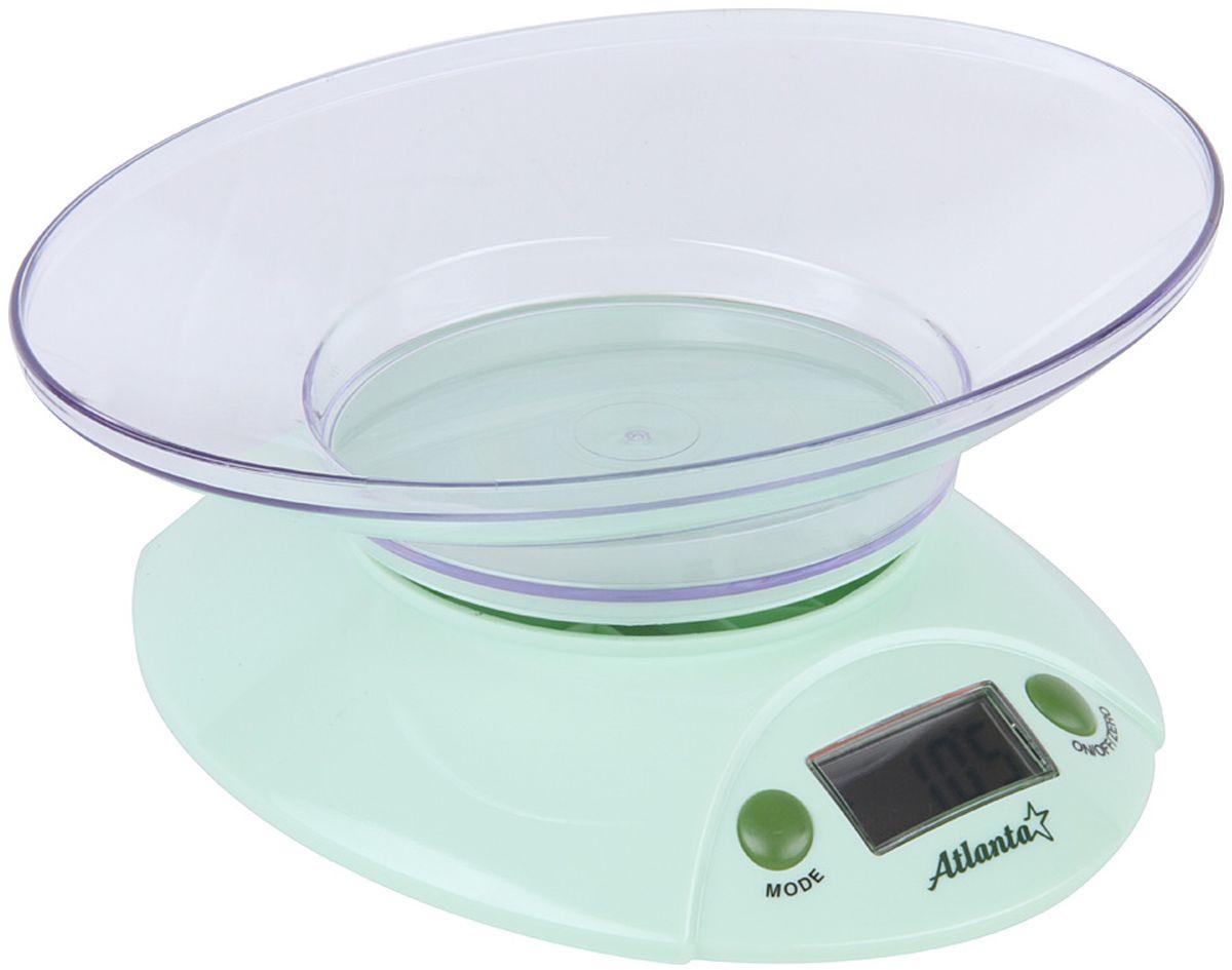 Atlanta ATH-803, Green весы кухонныеATH-803 greenКухонные электронные весы Atlanta ATH-803 - незаменимые помощники современной хозяйки. Они помогутточно взвесить любые продукты и ингредиенты. Кроме того, позволят людям, соблюдающим диету,контролировать количество съедаемой пищи и размеры порций. Предназначены для взвешивания продуктов сточностью измерения 1 грамм.Функция обнуления веса