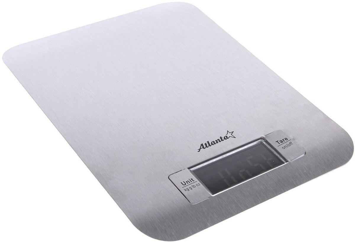 Atlanta ATH-6202, White весы кухонныеATH-6202 whiteКухонные электронные весы Atlanta ATH-6202 - незаменимые помощники современной хозяйки. Они помогут точно взвесить любые продукты и ингредиенты. Кроме того, позволят людям, соблюдающим диету, контролировать количество съедаемой пищи и размеры порций. Предназначены для взвешивания продуктов с точностью измерения 1 грамм.Размер дисплея: 5,9 см х 2,8 смФункция обнуления весаФункция сложный рецепт