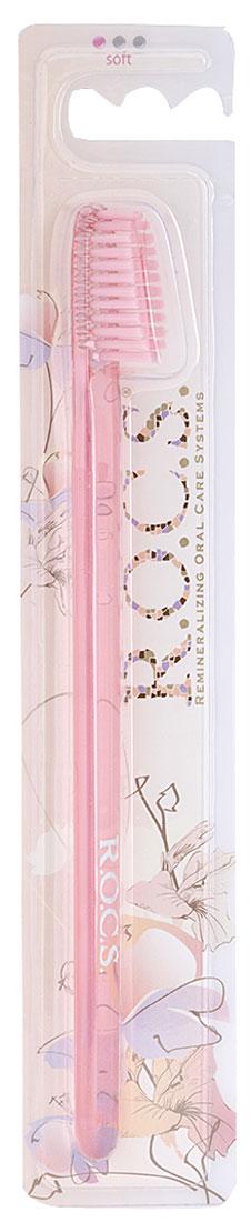 R.O.C.S. Зубная щетка Классическая, средняя жесткость, цвет: светло-розовый03-04-009_светло-розовыйЗубная щетка R.O.C.S. Классическая разработана при участии стоматологов. Нетрадиционная скошенная подстрижка щетины обеспечивает:Эффективную чистку: качественное удаление зубного налета и поверхностных окрашиваний;Высокое качество очистки труднодоступных участков зубного ряда;Легкий доступ к дальним зубам. Тонкая ручка предотвращает излишнее давление при чистке. Высококачественная щетина имеет закругленные и отполированные на концах текстурированные щетинки, которые обеспечивают быстрое и интенсивное очищение благодаря увеличенной очищающей поверхности и особенностям аквадинамики волокна.Товар сертифицирован.