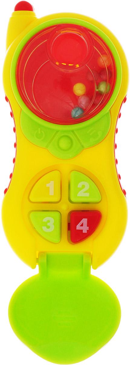 Ути-Пути Погремушка Телефон цвет желтый умка обучающий телефон
