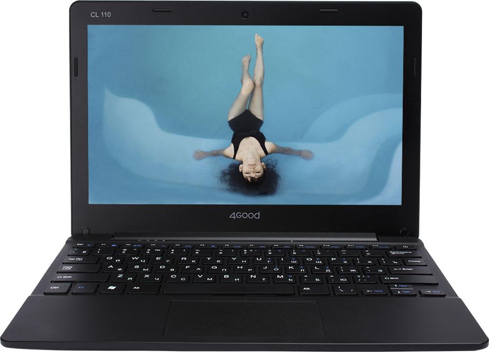 4good CL110, BlackCL110Модель CL110 относится к новой категории устройств бренда 4GOOD – облачные ноутбуки, которые также называют Cloudbook. Это ультрапортативный ноутбук, который меньше и легче, чем обычный ноутбук.На базе ОС Windows 10 укомплектован новейшей моделью 4-х ядерного процессора Intel Atom Z3735F с частотой до 1,8 ГГц. Объем оперативной памяти составляет 2 ГБ, а встроенной памяти 32 ГБ. Корпус выполнен из износостойкого пластика, что гарантирует сохранение внешнего вида в течение всего гарантийного срока.Дисплей диагональю 11.6 - дюймов выполнен по технологии TN, что обеспечивает качественное изображение, разрешение 1366x768 точек. Для общения в мессенджерах и видеозвонков используйте фронтальную камеру разрешением 0.3-мегапикселя. Подключение любых устройств (принтер, сканеры, цифровые камеры) через беспроводные модули WiFi и Bluetooth. Внимание заслуживает энергопотребление устройства, оно выделяется на рынке конкурентов. Встроенный аккумулятор ёмкостью 10000 мАч, в запасе всегда есть минимум пять часов воспроизведения видео и семь часов работы с документами. Точные характеристики зависят от модификации.Ноутбук сертифицирован EAC и имеет русифицированную клавиатуру и Руководство пользователя.