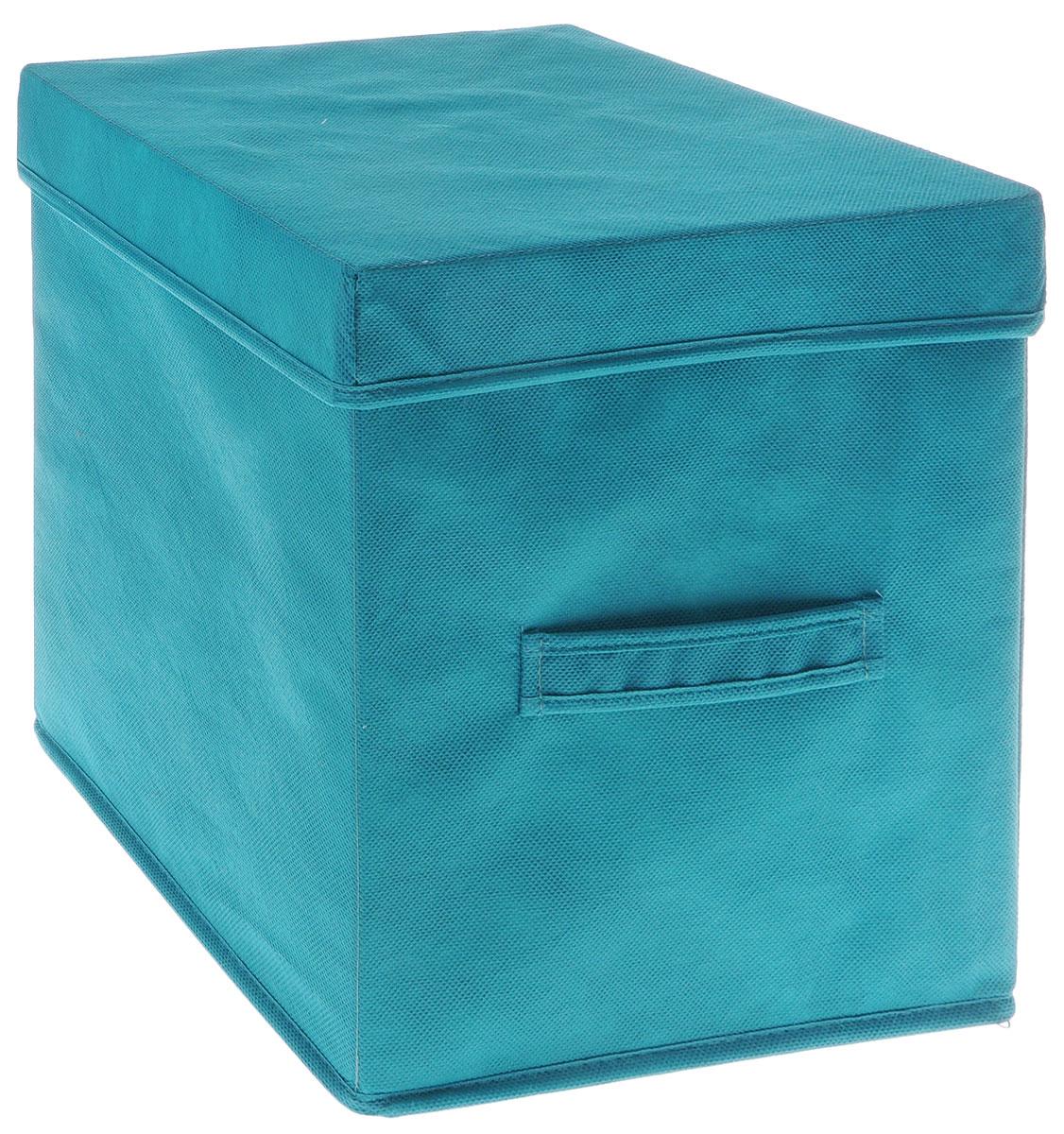 Коробка для вещей и игрушек Все на местах Minimalistic, с крышкой, цвет: бирюзовый, 30 х 30 х 30 см1012036Коробка с крышкой Minimalistic выполнена из высококачественного нетканого материала, который обеспечивает естественную вентиляцию и предназначен для хранения вещей или игрушек.Он защитит вещи от повреждений, пыли, влаги и загрязнений во время хранения и транспортировки. Размер коробки: 30 х 30 х 30 см.