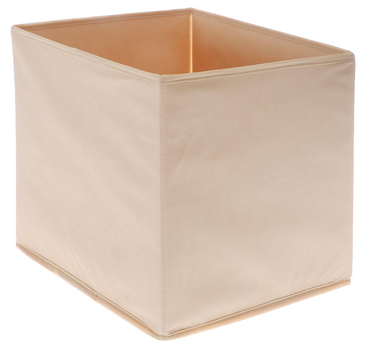Коробка для вещей и игрушек Все на местах Minimalistic, цвет: бежевый, 30 x 30 x 30 см1011037Коробка Minimalistic выполнена из высококачественного нетканого материала,который обеспечивает естественную вентиляцию и предназначен для хранениявещей или игрушек. Он защитит вещи от повреждений, пыли, влаги и загрязнений во время хранения итранспортировки. Размер коробки: 30 х 30 х 30 см.