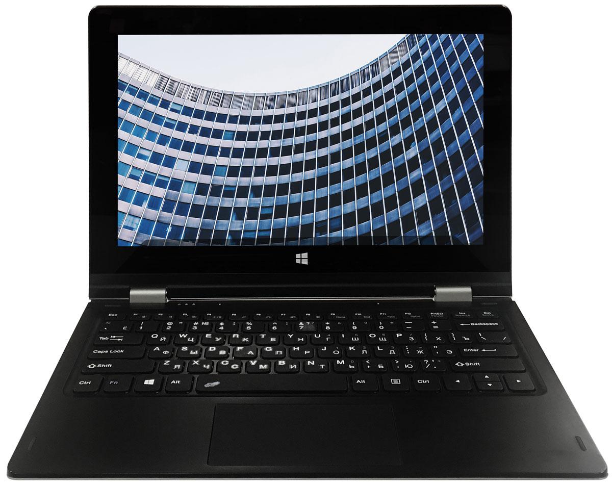 4good People GN601GN601Особенностью модели 4good People GN601 является ее революционный внешний вид. Встроенная конструкция шарниров позволяет открывать дисплей на 360 градусов.Ноутбук работает под управлением ОС Windows 10. Укомплектован новейшей моделью 4-х ядерного процессора Intel Cherry Trail Z8350 с частотой до 1,92 ГГц. Объем оперативной памяти составляет 2 ГБ, а встроенной памяти 32 ГБ. Корпус выполнен из износостойкого пластика, что гарантирует сохранение внешнего вида в течение всего гарантийного срока.Дисплей диагональю 11.6 - дюймов выполнен по технологии IPS, что обеспечивает качественное изображение, разрешение 1920x1080 точек. Для общения в мессенджерах и видеозвонков используйте фронтальную камеру разрешением 2 мегапикселя. Подключение любых устройств (принтер, сканеры, цифровые камеры) через беспроводные модули WiFi и Bluetooth. Внимание заслуживает энергопотребление устройства, оно выделяется на рынке конкурентов. Встроенный аккумулятор ёмкостью 10000 мАч, в запасе всегда есть минимум пять часов воспроизведения видео и семь часов работы с документами. Точные характеристики зависят от модификации.Ноутбук сертифицирован EAC и имеет русифицированную клавиатуру и Руководство пользователя.