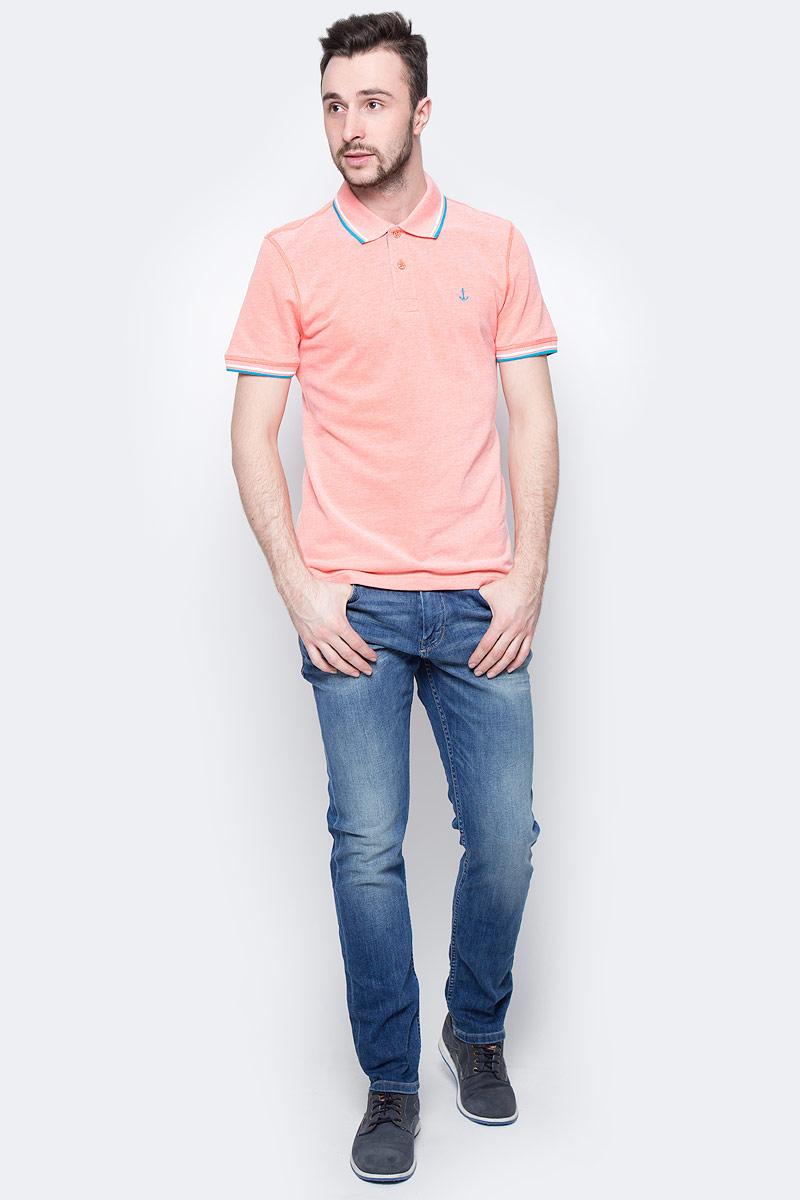 Поло мужское Tom Tailor, цвет: оранжевый меланж. 1531087.00.10_3440. Размер XXL (54)1531087.00.10_3440Мужская футболка-поло Tom Tailor поможет создать отличный современный образ. Модель изготовлена из хлопка. Футболка-поло с отложным воротником и короткими рукавами застегивается сверху на две пуговицы. Низ рукавов дополнен вставками. Такая футболка станет стильным дополнением к вашему гардеробу, она подарит вам комфорт в течение всего дня!
