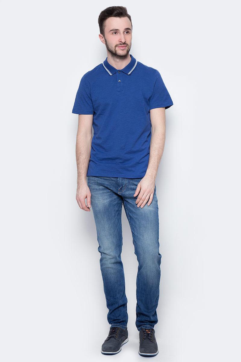 Поло мужское Tom Tailor, цвет: темно-синий, белый. 1531084.00.10_6621. Размер M (48)1531084.00.10_6621Мужская футболка-поло Tom Tailor поможет создать отличный современный образ. Модель изготовлена из хлопка. Футболка-поло с короткими рукавами застегивается сверху на две пуговицы. Такая футболка станет стильным дополнением к вашему гардеробу, она подарит вам комфорт в течение всего дня!