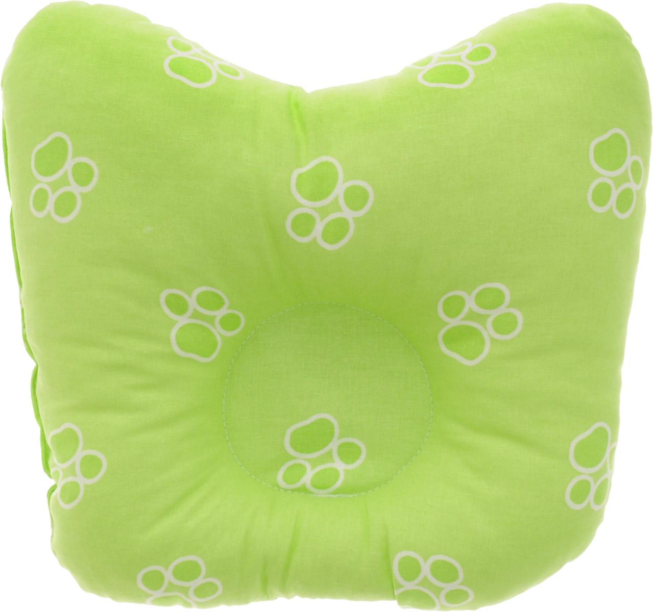 Сонный гномик Подушка анатомическая для младенцев Лапки цвет салатовый 27 х 27 см555А_лапки, салатовыйАнатомическая подушка для младенцев Сонный гномик Лапки изготовлена из бязи - 100% хлопка. Наполнитель - синтепон в гранулах (100% полиэстер).Подушка компактна и удобна для пеленания малыша и кормления на руках, она также незаменима для сна ребенка в кроватке и комфортна для использования в коляске на прогулке. Углубление в подушке фиксирует правильное положение головы ребенка.Подушка помогает правильному формированию шейного отдела позвоночника.