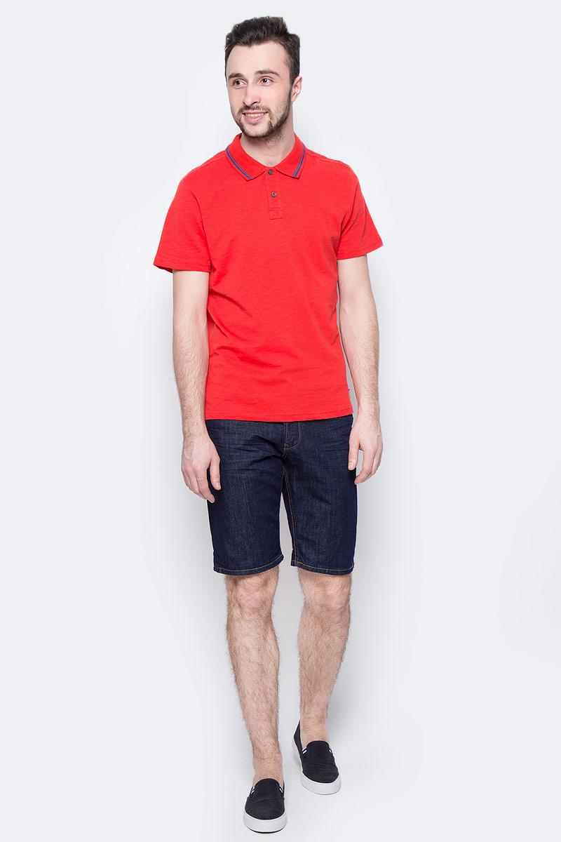 Поло мужское Tom Tailor, цвет: красный, синий. 1531084.00.10_4529. Размер XL (52)1531084.00.10_4529Мужская футболка-поло Tom Tailor поможет создать отличный современный образ. Модель изготовлена из хлопка. Футболка-поло с короткими рукавами застегивается сверху на две пуговицы. Такая футболка станет стильным дополнением к вашему гардеробу, она подарит вам комфорт в течение всего дня!