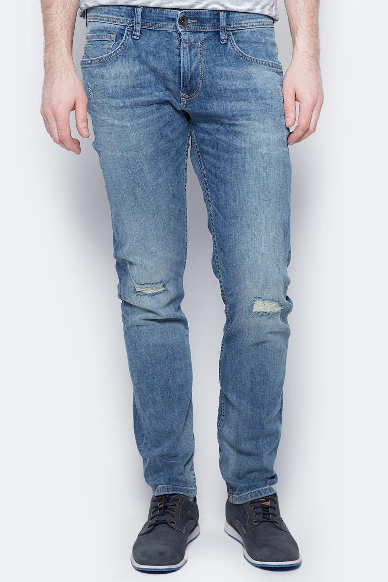 Джинсы мужские Tom Tailor Denim, цвет: светло-синий. 6205725.00.12_1073. Размер 32-34 (48-34) джинсы мужские tom tailor denim цвет голубой 6204155 00 12 1062 размер 33 34 48 50 34