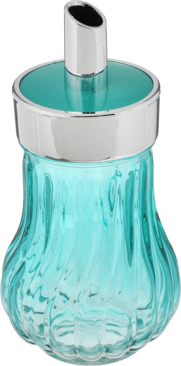 Банка для специй House & Holder, с дозатором, цвет: бирюзовый, 200 млPS3137I_бирюзовыйБанка для специй House & Holder выполнена из цветного прозрачного граненого стекла. Пластиковая крышка снабжена дозатором, благодаря которому вы сможете приправить блюда, просто перевернув банку. Изделие подходит как для жидких специй (оливковое масло, уксус), так и сухих. Крышка легко откручивается, поэтому заполнять банку очень просто. Такая баночка станет достойным дополнением к вашему кухонному инвентарю. Диаметр (по верхнему краю): 6 см.Высота банки (с учетом крышки): 14 см.