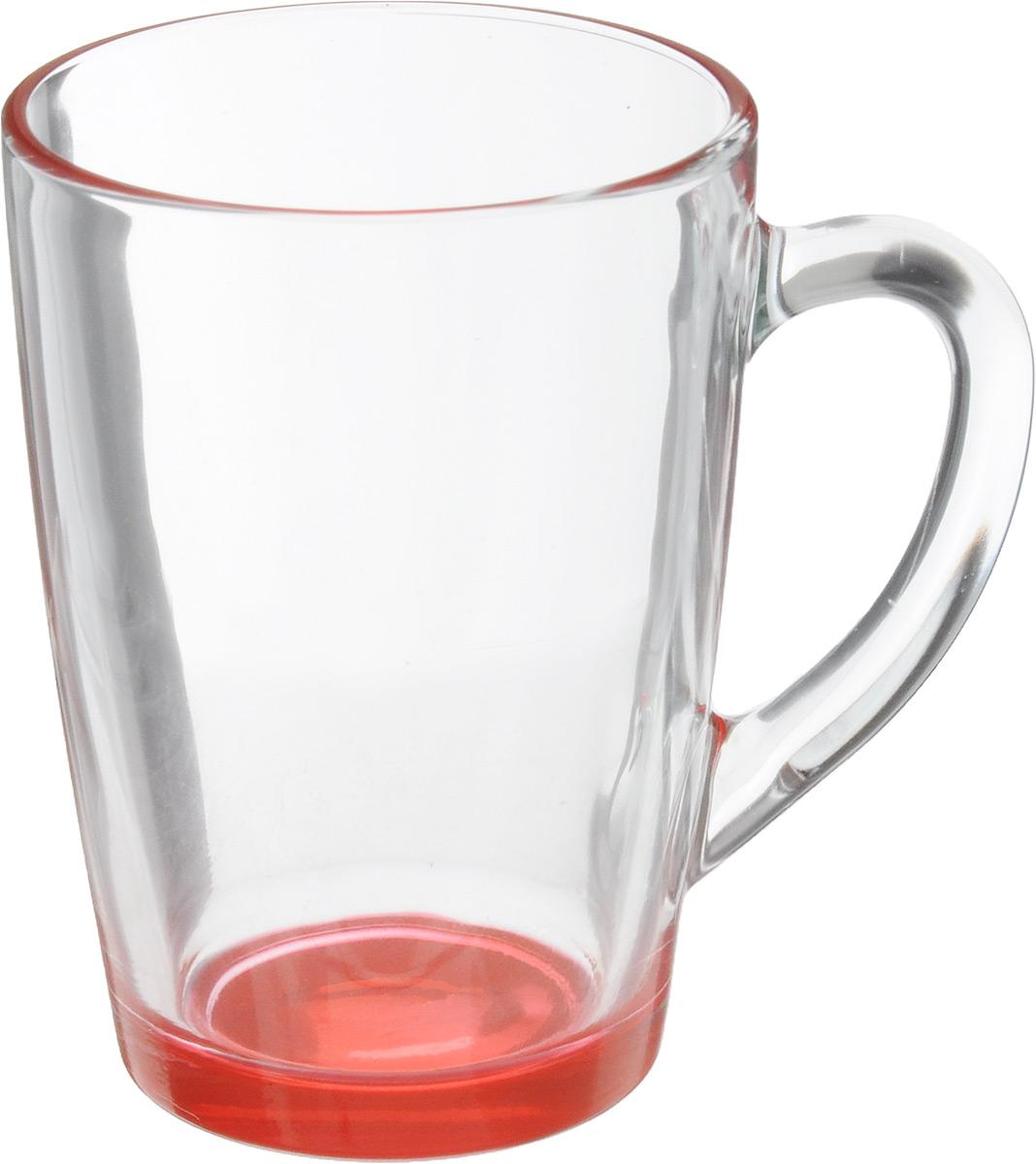 Кружка OSZ Капучино, цвет: прозрачный, красный, 300 мл. 07C1334LM07C1334LMКружка OSZ Капучино изготовлена из стекла двух цветов. Изделие идеально подходит для сервировки стола.Кружка не только украсит ваш кухонный стол, но и подчеркнет прекрасный вкус хозяйки. Диаметр кружки (по верхнему краю): 8 см. Высота кружки: 11 см. Объем кружки: 300 мл.