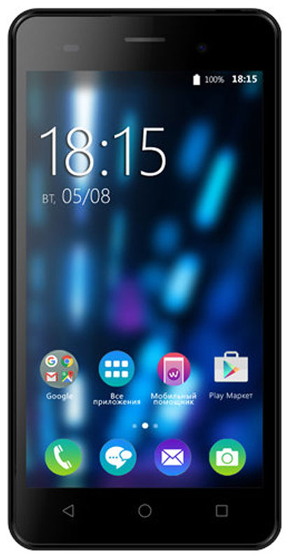 BQ 5020 Strike, Black Brushed - Смартфоны