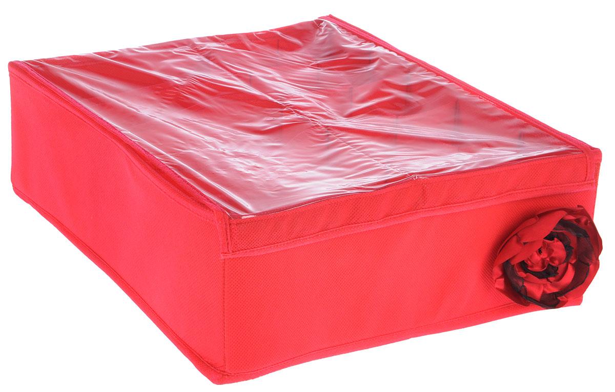 Органайзер универсальный Все на местах Классика, 15 секций, с крышкой, цвет: красный, 32 х 32 х 11 см1005013Органайзер поможет упорядочить размещение небольших вещей. Изделие выполнено из высококачественного нетканого материала, который обеспечивает естественную вентиляцию, позволяя воздуху проникать внутрь, но не пропускает пыль. Вставки из ПВХ хорошо держат форму. Изделие содержит 15 секций, дополнено прозрачной крышкой на липучках. Органайзер легко раскладывается и складывается. Оригинальный дизайн придется по вкусу ценителям эстетичного хранения. Размер органайзера в разложенном виде: 32 х 32 х 11 см.