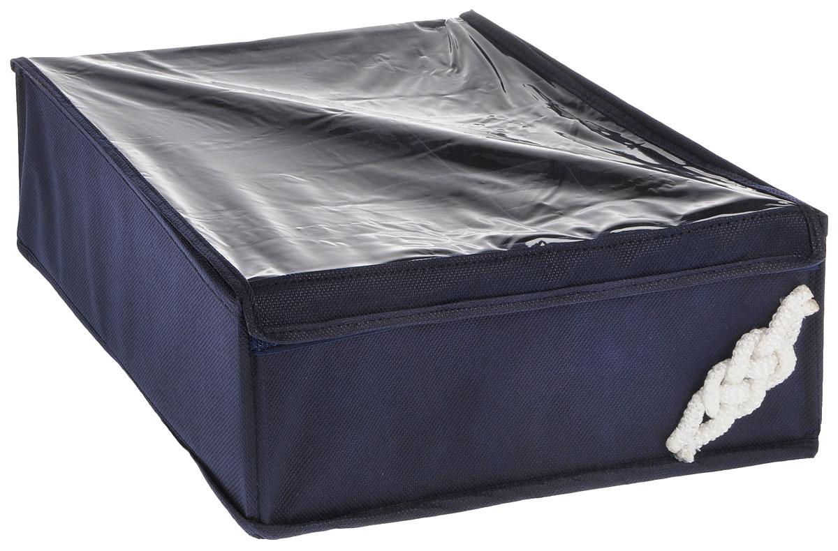 Органайзер универсальный Все на местах Классика, 15 секций, с крышкой, цвет: темно-синий, 32 х 32 х 11 см1004013Органайзер поможет упорядочить размещение небольших вещей. Изделие выполнено из высококачественного нетканого материала, который обеспечивает естественную вентиляцию, позволяя воздуху проникать внутрь, но не пропускает пыль. Вставки из ПВХ хорошо держат форму. Изделие содержит 15 секций, дополнено прозрачной крышкой на липучках. Органайзер легко раскладывается и складывается. Оригинальный дизайн придется по вкусу ценителям эстетичного хранения. Размер органайзера в разложенном виде: 32 х 32 х 11 см.
