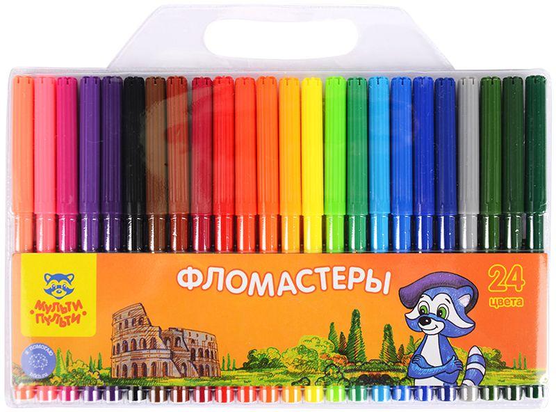 Мульти-Пульти Набор фломастеров Енот в Италии 24 цвета