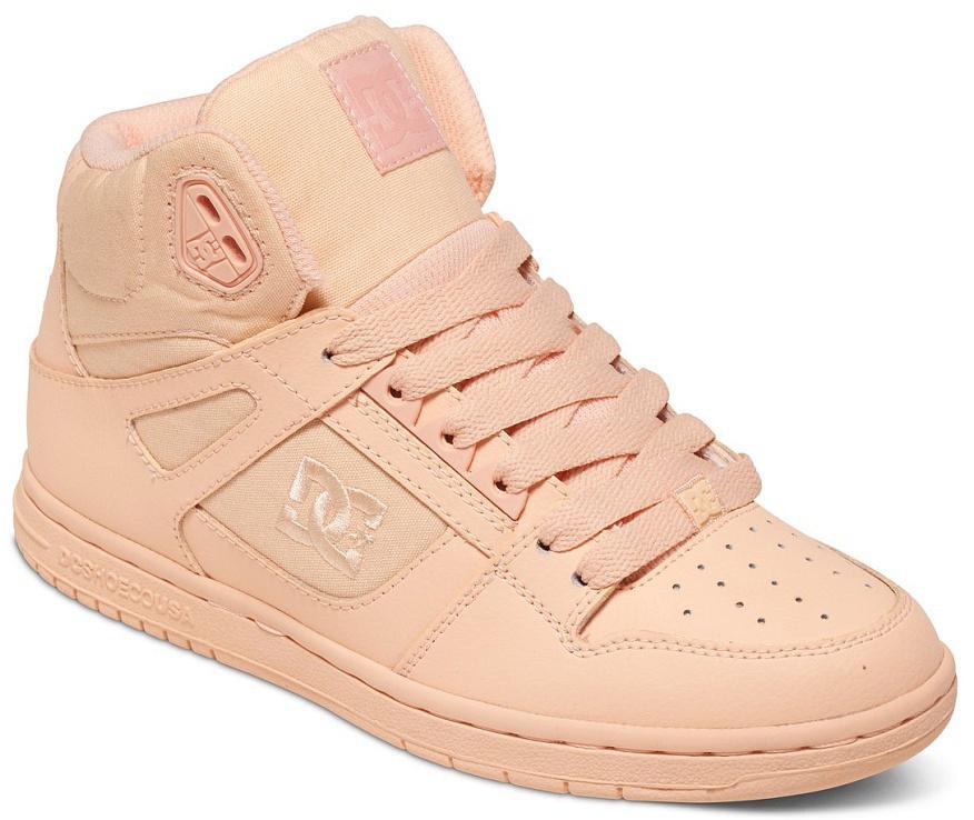 Кеды женские DC Shoes Rebound High, цвет: персиковый. 302164-PCR. Размер 5B (36)302164-PCRКлассические высокие женские кеды, обеспечивающие максимальный комфорт и поддержку благодаря вспененному манжету и язычку. Выигрышное сочетание кожи и премиум текстиля обеспечит не только долговечность и надежность конструкции, но и отличный внешний вид, добавляющий стиля городскому луку.