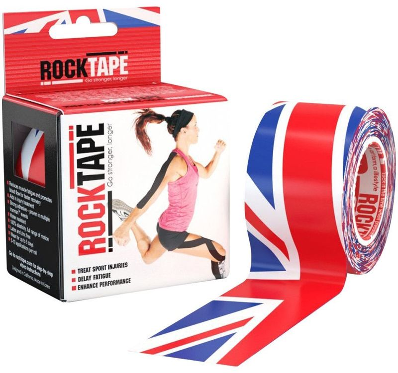 "Кинезиотейп Rocktape ""Design. Британский флаг"", 5 х 500 см"