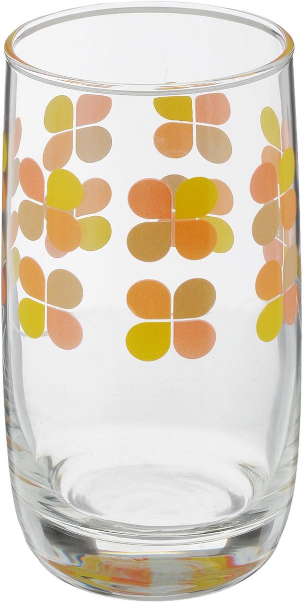 Стакан OSZ Клевер, цвет: прозрачный, желтый, оранжевый, 330 млL2950_прозрачный, желтый, оранжевыйСтакан OSZ Клевер изготовлен из стекла. Идеально подходит для сервировки стола.Стакан не только украсит ваш кухонный стол, но и подчеркнет прекрасный вкус хозяйки. Диаметр стакана (по верхнему краю): 6,5 см. Диаметр основания: 5 см. Высота стакана: 12,5 см.